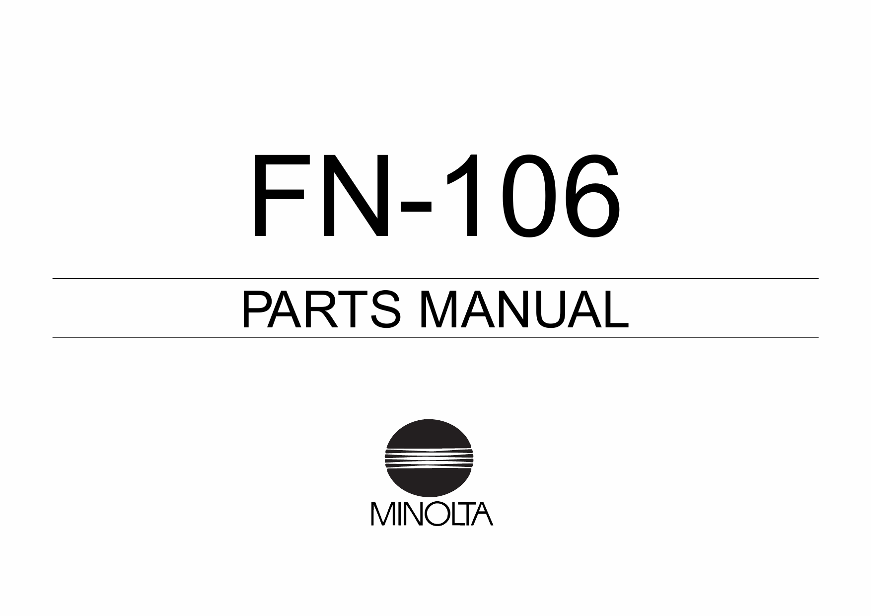 Konica-Minolta Options FN-106 Parts Manual-1